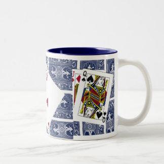 Playing cards Coffee Cup Two-Tone Coffee Mug