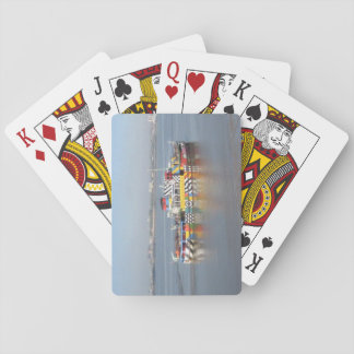 Playing Cards Colourful Boat (Close Up Version)