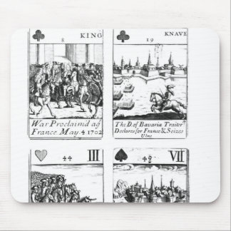 Playing cards commemorating mouse pad