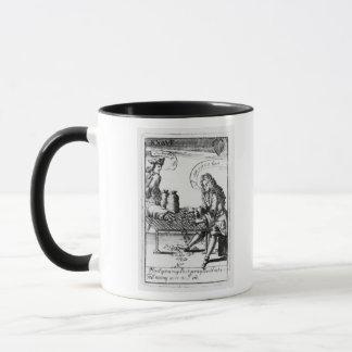 Playing cards commemorating mug