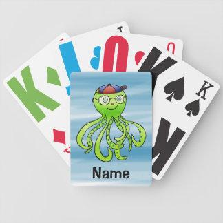 Playing Cards, Cute Octopus Cartoon