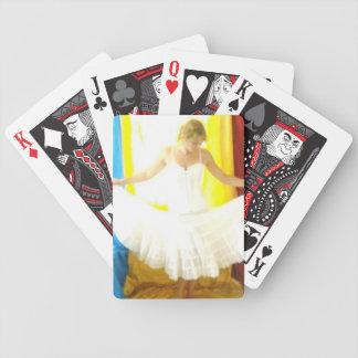 playing cards dancer ballerina tutu white swan