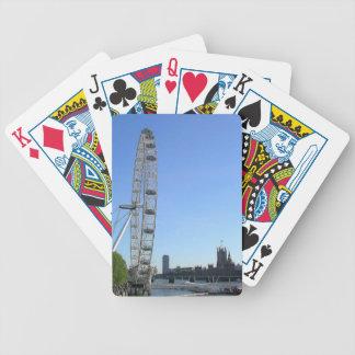 Playing Cards Deck with London Eye Ferris Wheel
