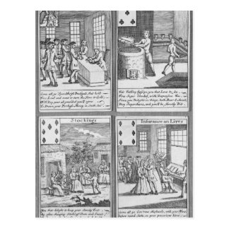 Playing Cards depicting current commercial