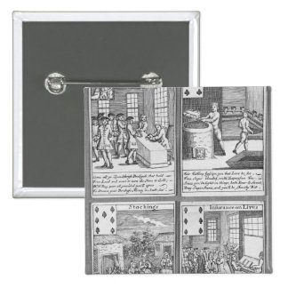 Playing Cards depicting current commercial Pinback Button