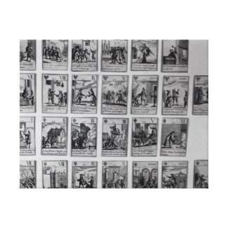Playing cards depicting episodes canvas print
