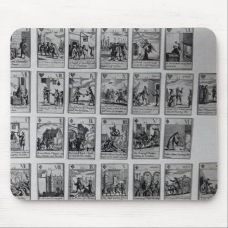 Playing cards depicting episodes mouse pad