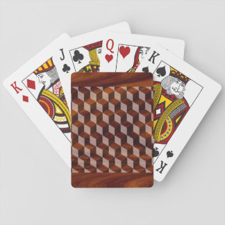Playing cards - Faux inlaid wood