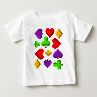 Playing Cards Figures Pattern Design Baby T-Shirt