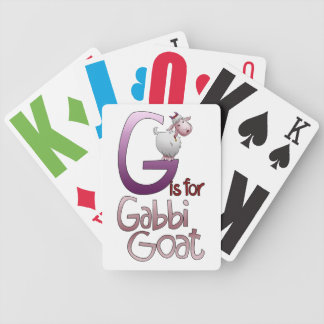 Playing Cards, G is for Gabbi Goat Bicycle Playing Cards