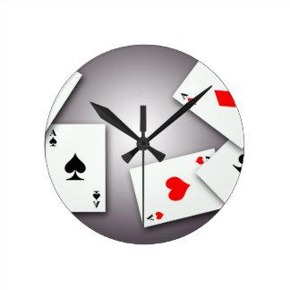 PLAYING CARDS GAMES POKER BLACKJACK GAMBLING GOFIS ROUND CLOCK