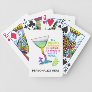 PLAYING CARDS - GLASS HALF FULL