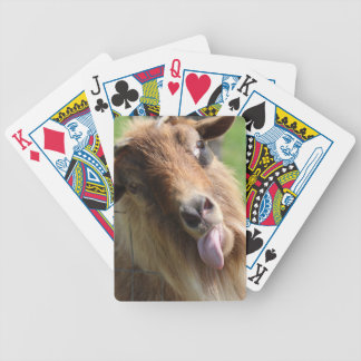 """Playing Cards  """"Goat Face"""" Themed"""