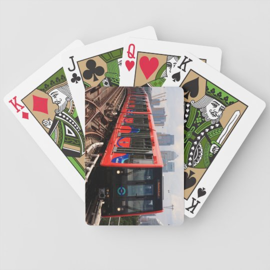 Playing Cards (Green) with London Train