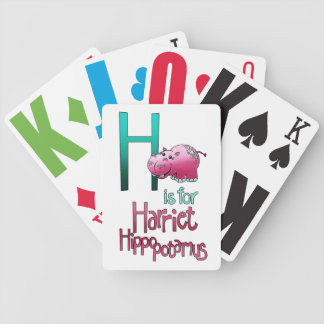Playing Cards, H is for Harriet Hippopotamus Bicycle Playing Cards