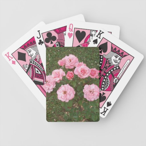 Playing Cards In Pink And Pretty Pink Roses