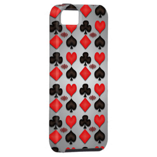 Playing cards iphone cases silver background iPhone 5 case