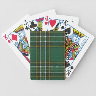 Playing Cards Irish National Tartan Print