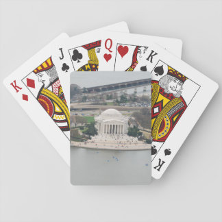 Playing Cards - Jefferson Memorial aerial view