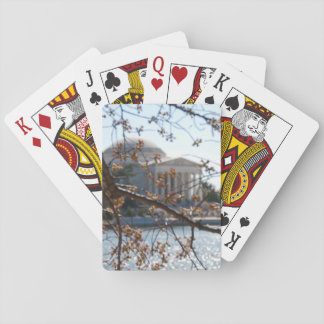 Playing Cards - Jefferson Memorial cherry trees