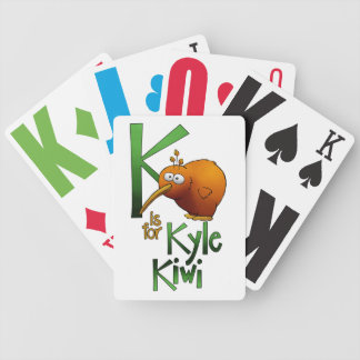 Playing Cards, K is for Kyle Kiwi Bicycle Playing Cards