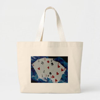 Playing Cards Large Tote Bag
