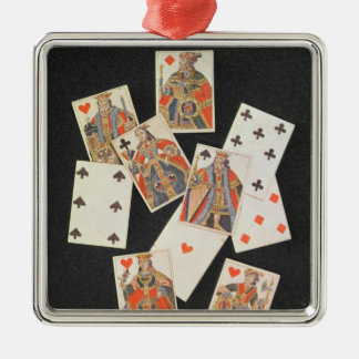 Playing Cards Metal Ornament