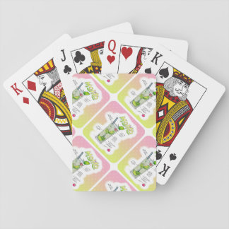 PLAYING CARDS - MOJITO RECIPE COCKTAIL ART