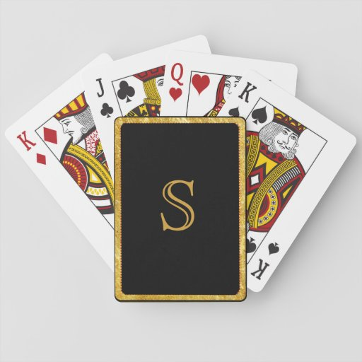 Playing Cards Monogrammed