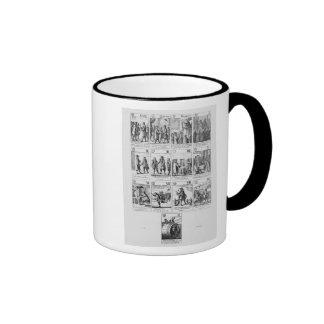 Playing cards ringer coffee mug