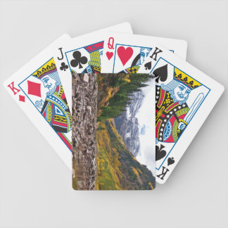 Playing Cards: N. Maroon Autumn Bicycle Playing Cards