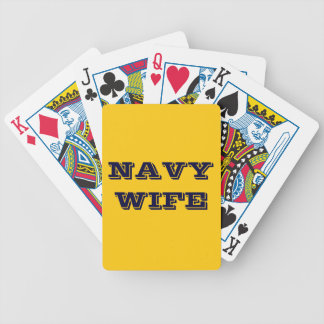 Playing Cards Navy Wife