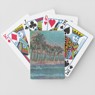 playing cards palm trees & ocean art by CLAY