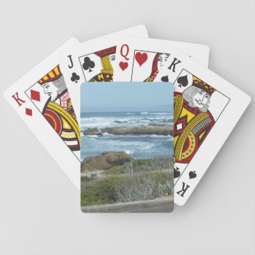EllyRuthCreations Playing Cards, Pebble Beach in California Playing Cards