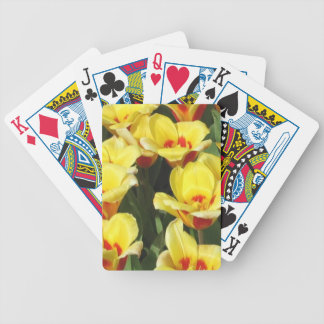 Playing Cards Picturing Yellow Tulips