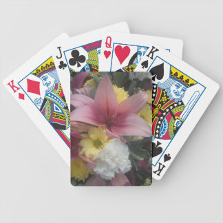 Playing Cards Pink Lily Beauty Bicycle Playing Cards