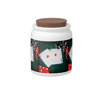 Playing Cards & Poker Chips Grunge Style Candy Jars