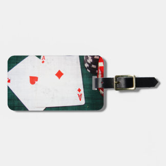 Playing Cards & Poker Chips Grunge Style Luggage Tags