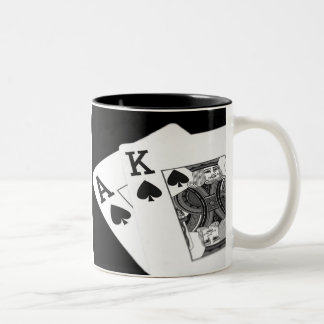 Playing Cards Poker I'm All In! Two-Tone Coffee Mug