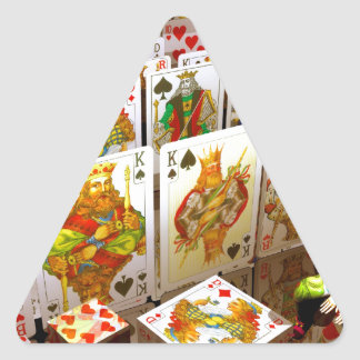 Playing cards poker joker art triangle sticker