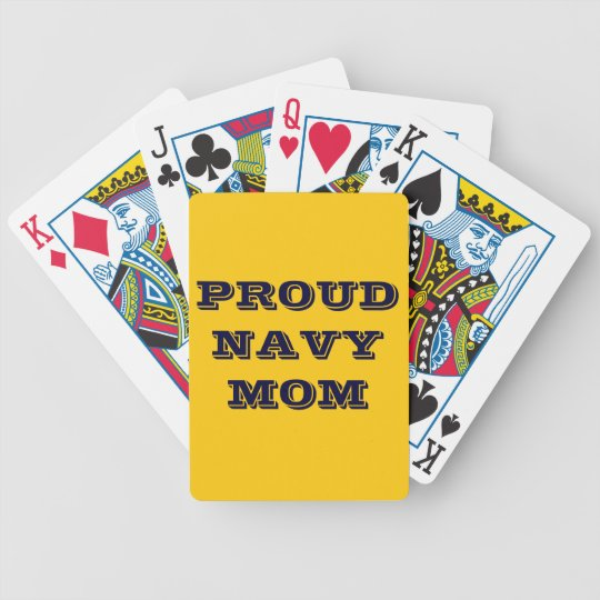 Playing Cards Proud Navy Mom