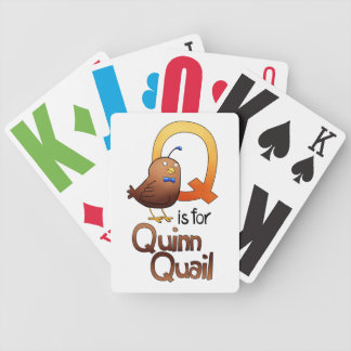 Playing Cards, Q is for Quinn Quail Bicycle Playing Cards