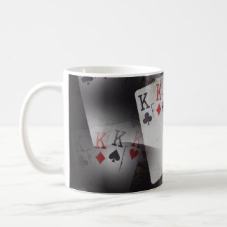 Playing Cards Quad Kings In A Pattern, Coffee Mug
