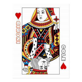 Playing Cards Queen + King of Hearts Save the Date