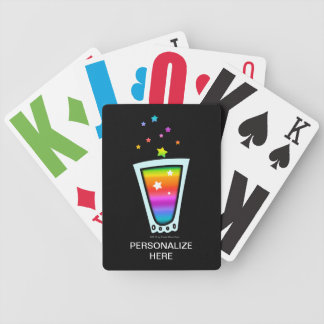 PLAYING CARDS - RAINBOW SHOT GLASS