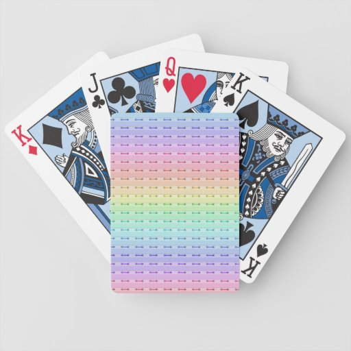 Playing Cards - Rainbow Stitching