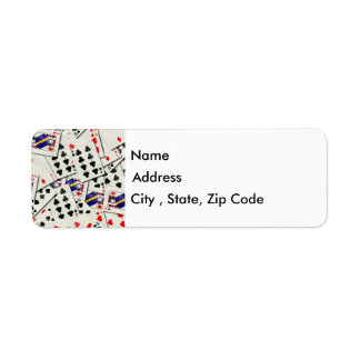 Playing Cards Return Address Label