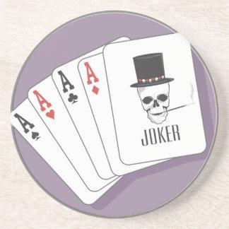 Playing Cards Sandstone Beverage Coaster