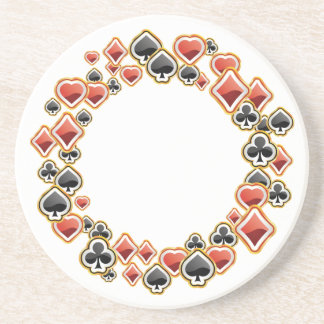 Playing Cards Sandstone Coaster