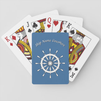 Playing Cards - Ship Helm with Name